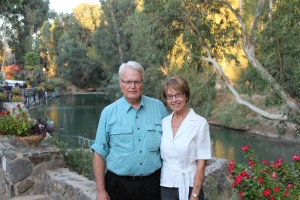 With Warren at the Jordan River in Israel